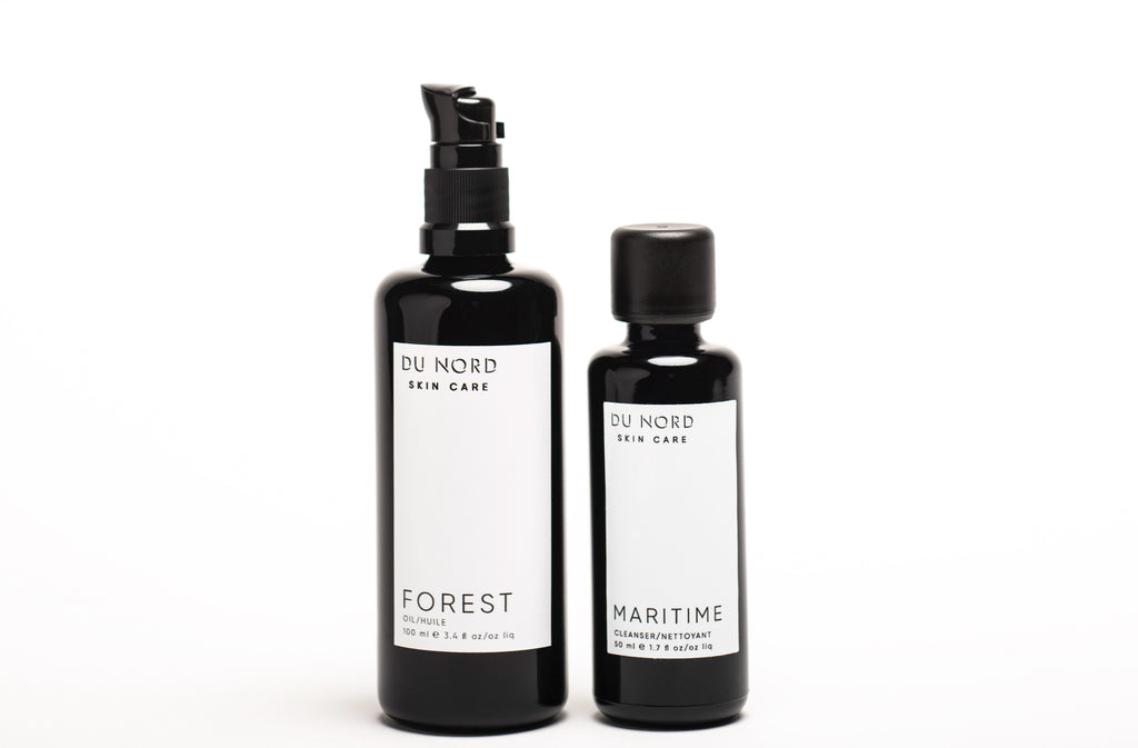 DU NORD SKIN CARE RADIANCE DU NORD: FOREST Oil (100 ml) & MARITIME Cleanser (50 ml)