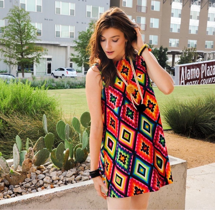 Cousin Earl Aztec Dress