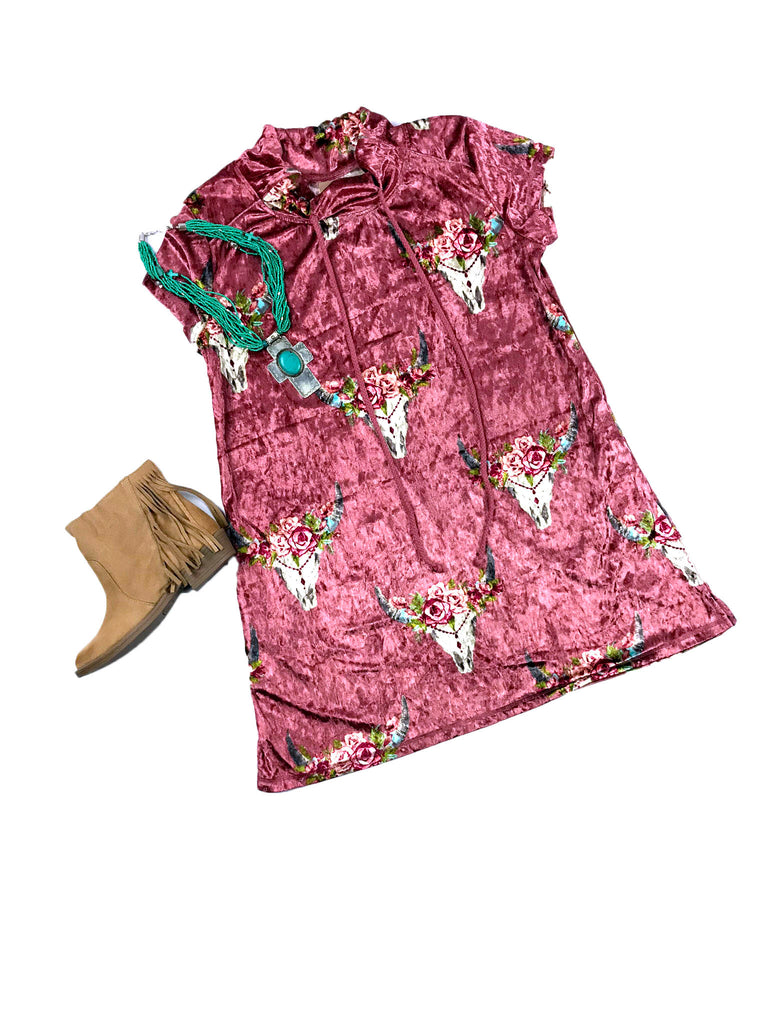 Pink Velvet Dress or Tunic