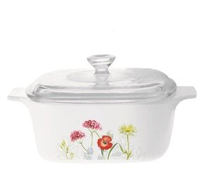 Corningware Covered Casserole (with Lid) (Daisy Fields Patterns)