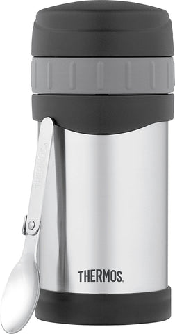 Thermos 16oz/470mL Vacuum Insulated Stainless Steel Food Jar with Folding Spoon [2340TRI6]