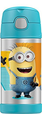 Thermos FUNtainer Stainless Steel 12oz. Straw Bottle - Minions