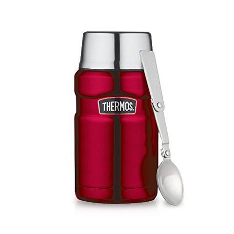 Thermos Stainless King 24-Ounce Food Jar w/ Foldable Spoon
