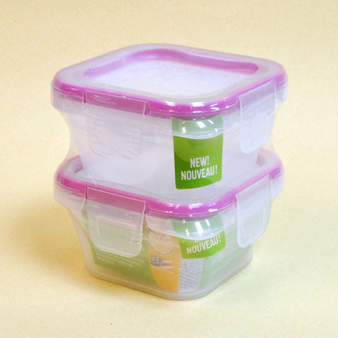 Square Snapware Plastic Food Storage Set (2 PCS)