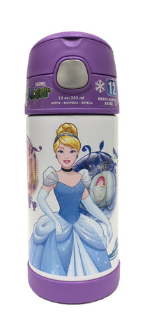 Thermos FUNtainer Stainless Steel 12oz. Straw Bottle - Disney Princess