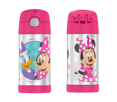 Thermos FUNtainer Stainless Steel 12oz. Straw Bottle - Minnie Mouse