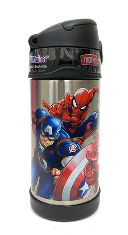 Thermos FUNtainer Stainless Steel 12oz. Straw Bottle - Marvel Universe