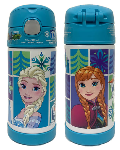 Thermos FUNtainer Stainless Steel 12oz. Straw Bottle - Disney Frozen