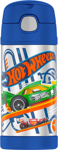 Thermos FUNtainer Stainless Steel 12oz. Straw Bottle - Hot Wheels