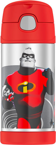 Thermos FUNtainer Stainless Steel 12oz. Straw Bottle - Incredibles 2