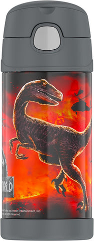 Thermos FUNtainer Jurassic World 2 12oz/355mL Stainless Steel Straw Bottle