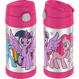 Thermos FUNtainer Stainless Steel 12oz. Straw Bottle - My Little Pony