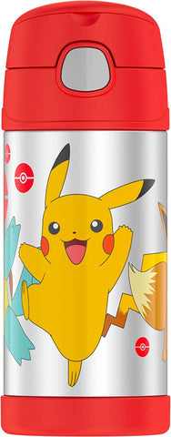 Thermos FUNtainer Stainless Steel 12oz. Straw Bottle - Pokemon