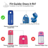 THERMOS Funtainer Bottle Replacement Straws for 12 Ounce  F401 (See Fit Guide)