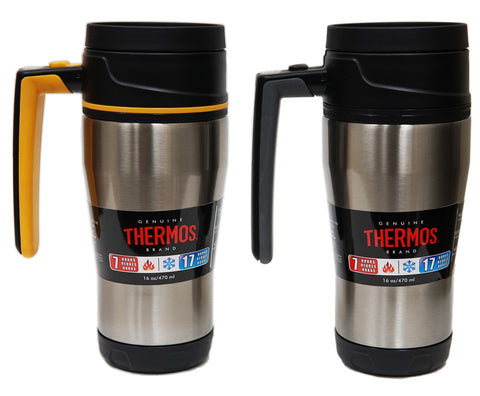 Thermos Stainless Steel Double Wall 16oz/470mL Travel Mug with Locked Lid (TS140)