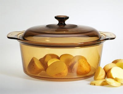 VISIONS 5L Round Dutch Oven With Glass Lid / Cover
