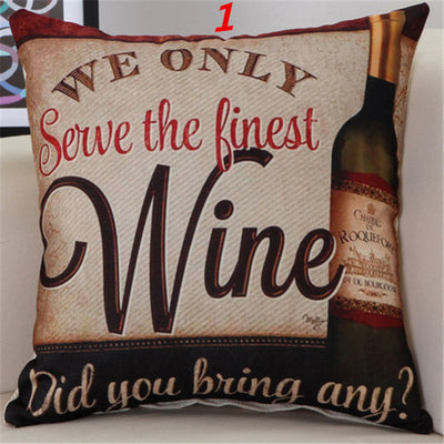 Alcoholic Pillow Cover