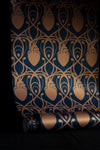 Cardiac Damask Wallpaper Sample - Midnight Blue & Copper Gold-Anatomy Boutique-Anatomy Boutique