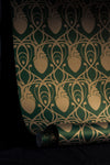 Cardiac Damask Wallpaper Sample - Green & Gold-Anatomy Boutique-Anatomy Boutique