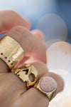 AB X IOANNA LIBERTA Pink Opal Brain Ring-Anatomy Boutique-Anatomy Boutique