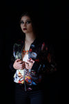 AB X EVI ANTONIO - Vanitas Satin Bomber Jacket-Anatomy Boutique-Anatomy Boutique