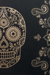 Skull Wallpaper Sample - Black & Gold - Anatomy Boutique