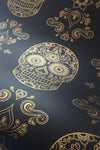 Skull Wallpaper Sample - Black & Gold