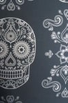Skull Wallpaper Sample - Grey & Silver-Anatomy Boutique-Anatomy Boutique