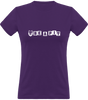 (new) T-shirt Femme 150g - Be a Pit Purpple & White