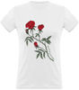 (new) T-shirt Femme 150g - White Tshirt - Rose Design v2