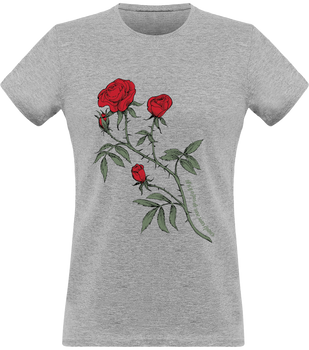 (new) T-shirt Femme 150g - gray Tshirt - Rose Design