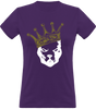 (new) T-shirt Femme 150g - Be a Pit - Purpple Tshirt - crown White & Gold