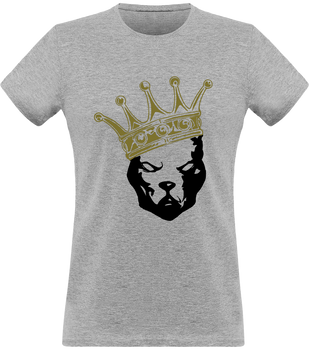 (new) T-shirt Femme 150g - Be a Pit - gray Tshirt - crown Black & Gold