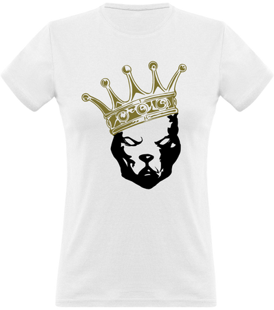 (new) T-shirt Femme 150g - Be a Pit - white Tshirt - crown black & Gold