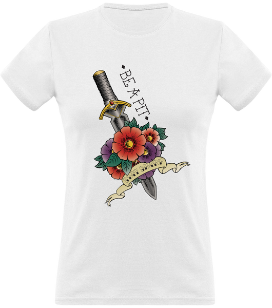 (new) T-shirt Femme 150g - Be a Pit - white Tshirt - Stay Sharp v2
