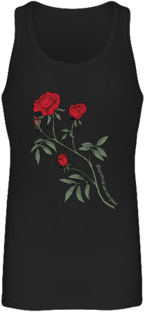 (tank top) Débardeur Long Femme - noir , rose design