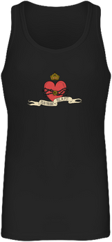 (tank top) - Débardeur Long Femme - black, heart design