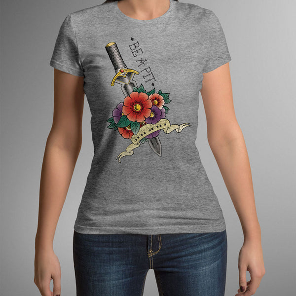 (new) T-shirt Femme 150g - Be a Pit - gray Tshirt - stay sharp