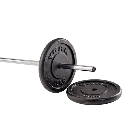 "1"" Standard Barbells and Weight Plates"