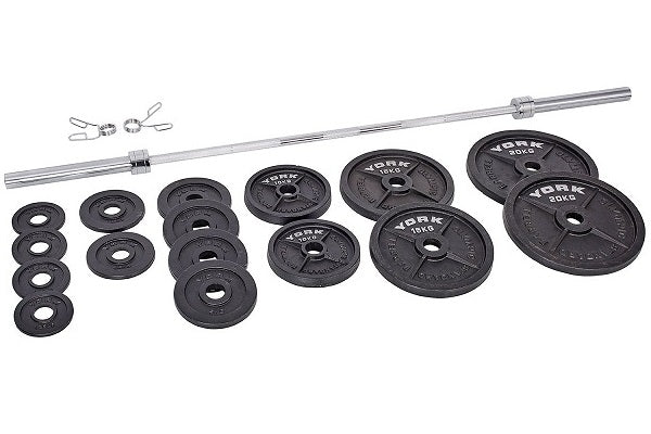 York Barbell 140 KG Olympic Set - Garage Gym Equipment