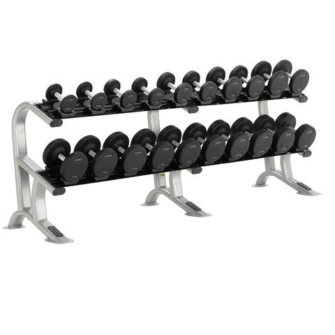 Pro-Style Dumbbell Rack Loaded with 2.5 - 25 KG Pro Style Dumbbells