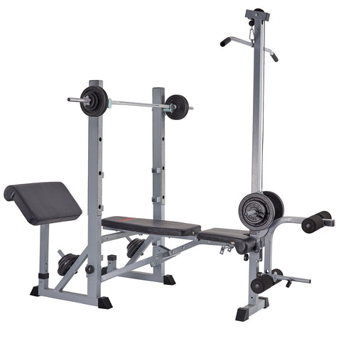 York Fitness 540 Bench with Lat Pull Down Attachment