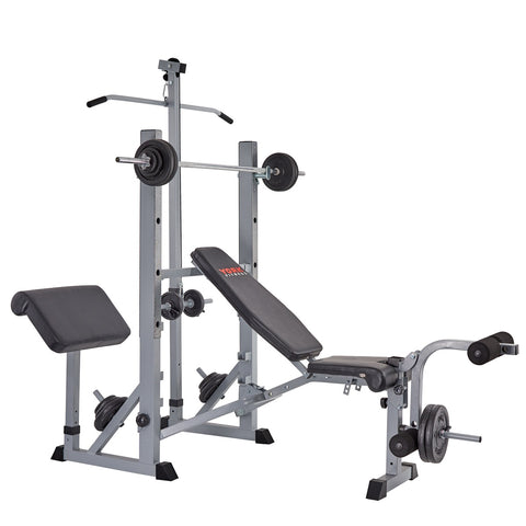 York Fitness 540 Bench loaded with Attachments