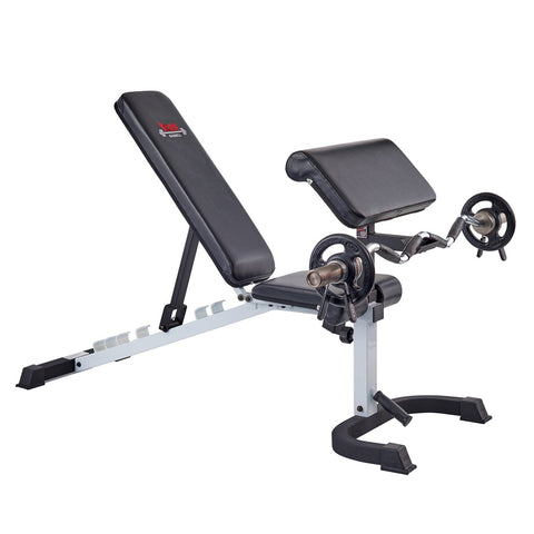 48008 York Barbell Preacher Curl Attachment on 48004 Flex Bench