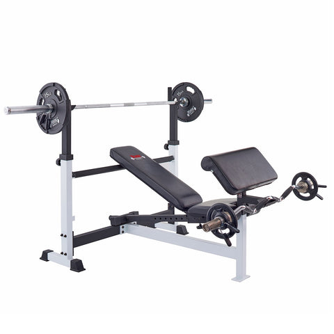 48005 York Barbell Olympic Combo Bench with 48008 Preacher Curl Attachment