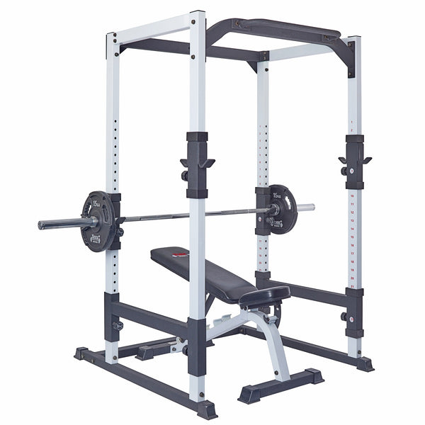 York Barbell FTS Power Cage with FTS Flat to Incline Bench, G2 Plates and Bar