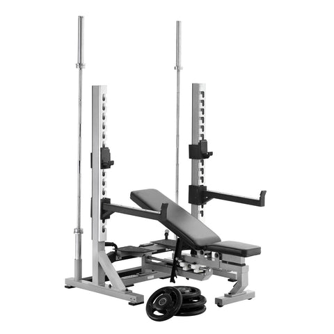 York Barbell Multi Function Bench in Chest Press Position