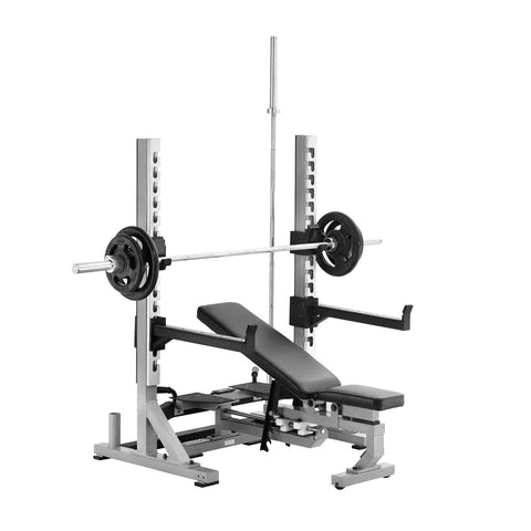 York Barbell 55051 STS Collegiate Rack with Multi-Function Bench