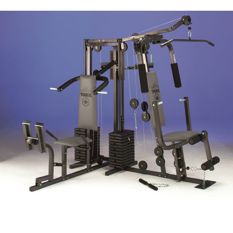 York Fitness 7240 Home Gym with York Fitness 7245 Attachment