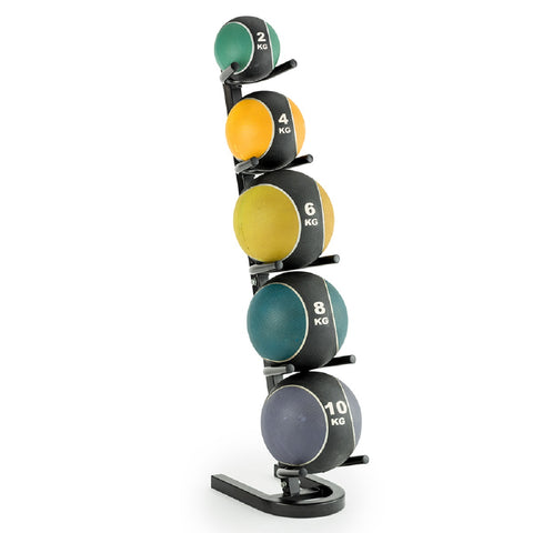 BBE311 York Barbell Vertical Medicine Ball Rack with Medicine Balls